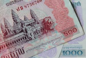 Geld Kambodscha Banknoten Riel